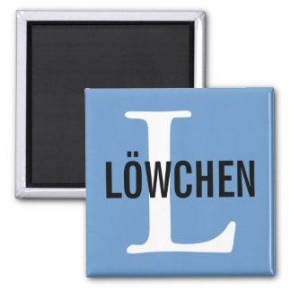 Diseño del monograma de la raza de Löwchen Imán De Nevera