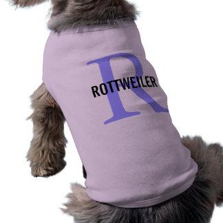 Diseño del monograma de la raza de Rottweiler Ropa De Perro