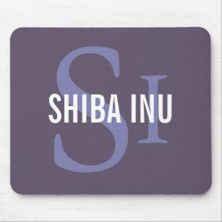 Diseño del monograma de la raza de Shiba Inu Tapetes De Ratón