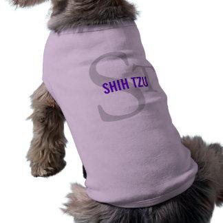 Diseño del monograma de la raza de Shih Tzu Playera Sin Mangas Para Perro