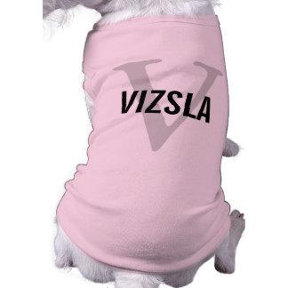 Diseño del monograma de la raza de Vizsla Camisetas De Perro