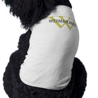 Diseño del monograma de la raza de Weimaraner Camisa De Mascota