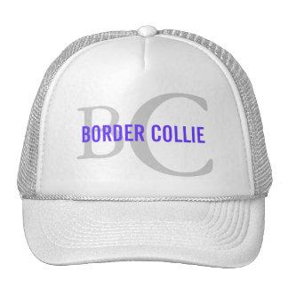 Diseño del monograma de la raza del border collie gorro de camionero