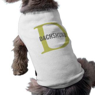 Diseño del monograma de la raza del Dachshund Camisa De Perro