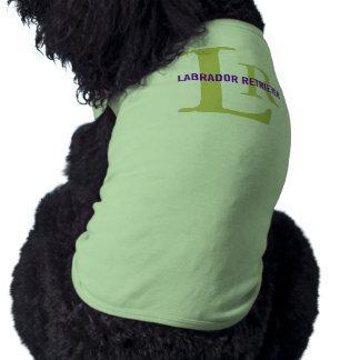 Diseño del monograma de la raza del labrador retri playera sin mangas para perro