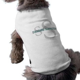 Diseño del monograma de la raza del Schnauzer está Camisetas Mascota