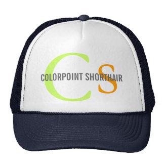 Diseño del monograma del gato de Colorpoint Shorth Gorro De Camionero