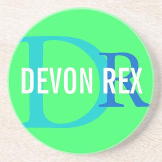 Diseño del monograma del gato de Devon Rex Posavasos Manualidades