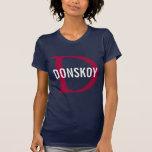 Diseño del monograma del gato de Donskoy Camisetas