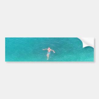 Diseño del muchacho de la natación por Admiro Pegatina Para Auto