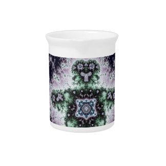 Diseño del muchacho del fractal jarra