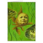 Diseño del mutante del bebé del Goldfish Tarjeta