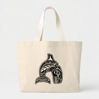 Diseño del nativo americano de la orca bolsa