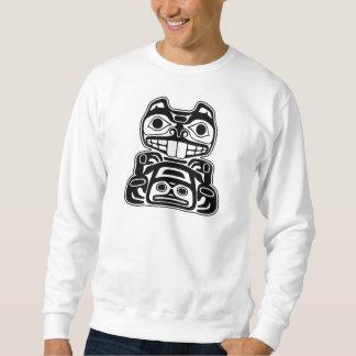Diseño del nativo americano del castor suéter