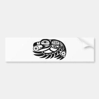 Diseño del nativo americano del cuervo pegatina para auto
