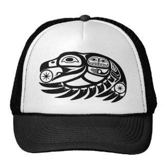 Diseño del nativo americano del cuervo gorro de camionero
