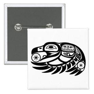 Diseño del nativo americano del cuervo pin