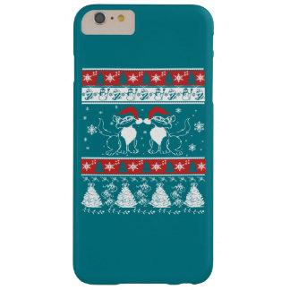 Diseño del navidad con los gatos locos funda barely there iPhone 6 plus