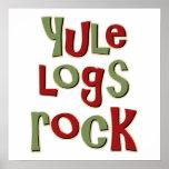 Diseño del navidad de la roca de los registros de  impresiones