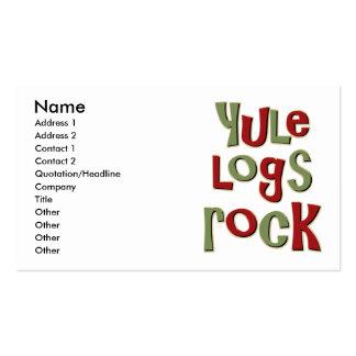 Diseño del navidad de la roca de los registros de tarjetas de visita