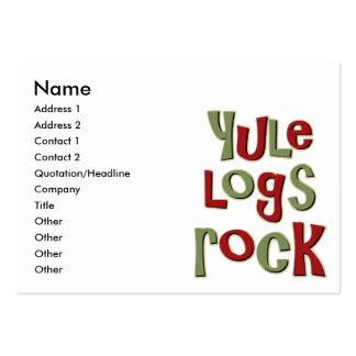 Diseño del navidad de la roca de los registros de tarjetas de visita grandes