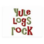 Diseño del navidad de la roca de los registros de  postal