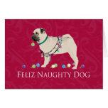 Diseño del navidad del barro amasado tarjeta de felicitación