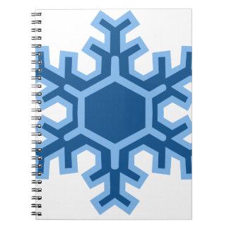 Diseño del navidad del copo de nieve cuaderno