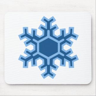 Diseño del navidad del copo de nieve tapetes de ratón