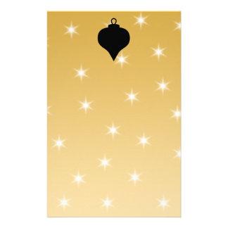 Diseño del navidad del negro y del color oro papelería
