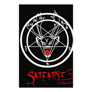 Diseño del navidad del Pentagram de Santanist Personalized Stationery