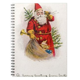 Diseño del navidad del vintage libretas espirales