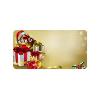 Diseño del navidad etiquetas de dirección