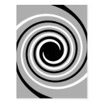 Diseño del negro, blanco y gris de la torsión postal