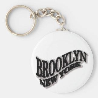 Diseño del negro de Brooklyn Llavero Personalizado