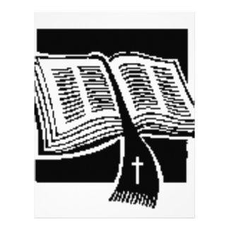 Diseño del negro y del Blanco-biblia-arte Plantilla De Membrete