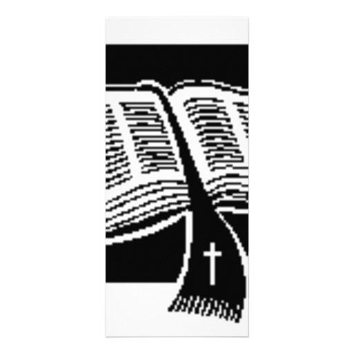 Diseño del negro y del Blanco-biblia-arte Lona Publicitaria