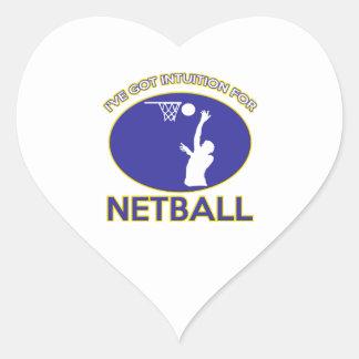 diseño del netball pegatina en forma de corazón