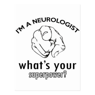 diseño del neurólogo postal