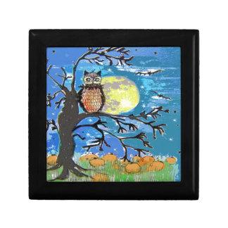 Diseño del noctámbulo de Halloween Caja De Joyas