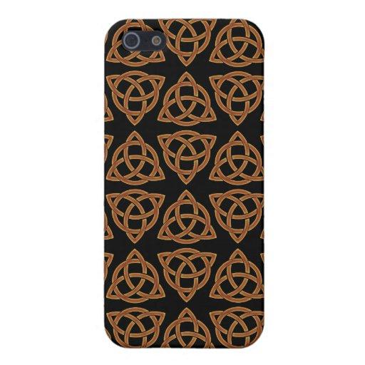 Diseño del nudo de Scandi del Celtic tri iPhone 5 Carcasas