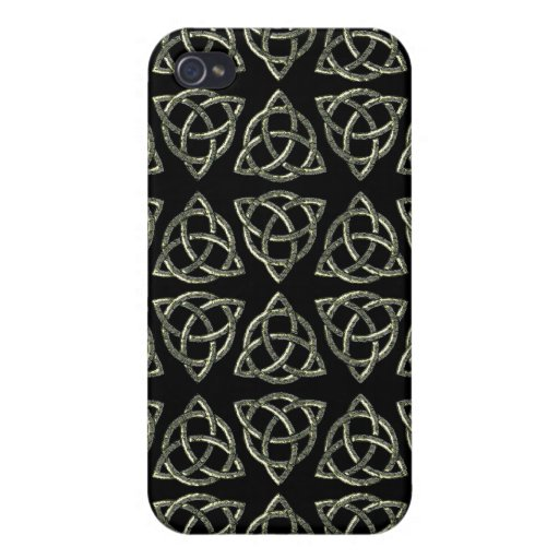 Diseño del nudo de Scandi del Celtic tri iPhone 4 Cárcasas