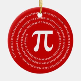 Diseño del número del pi adorno
