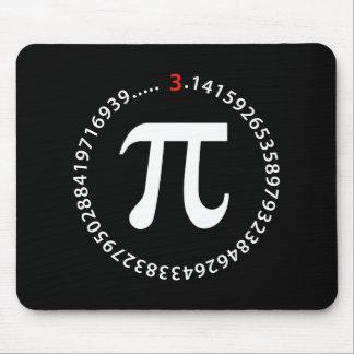 Diseño del número del pi alfombrillas de ratón
