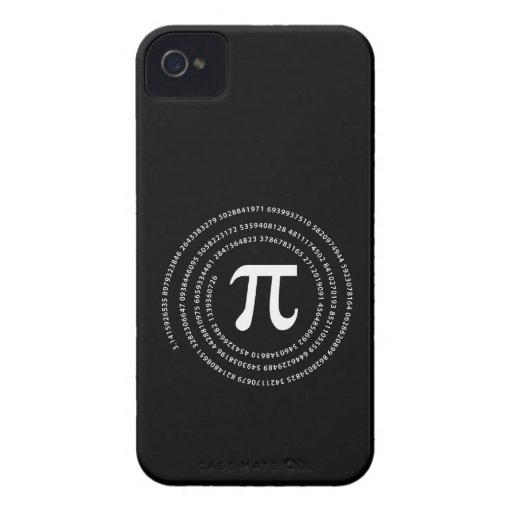 Diseño del número del pi iPhone 4 Case-Mate cárcasa
