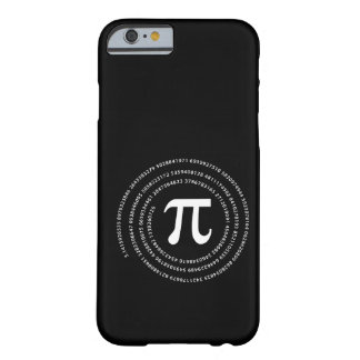 Diseño del número del pi funda para iPhone 6 barely there