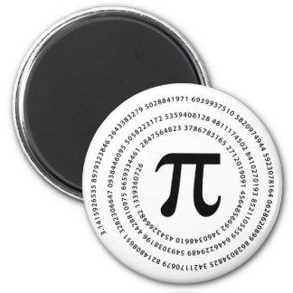 Diseño del número del pi iman de frigorífico