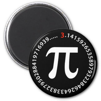 Diseño del número del pi imán redondo 5 cm