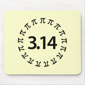 Diseño del número del pi mouse pads