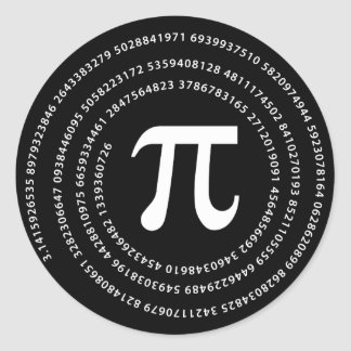Diseño del número del pi pegatinas redondas